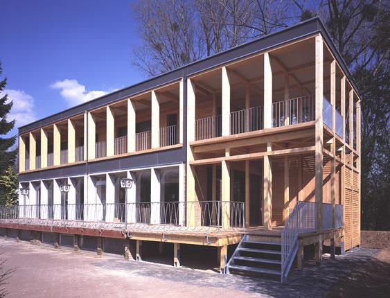 Holzskelettbau architektur  Hupperich Niedner-Siebert Architekten - Bad Honnef